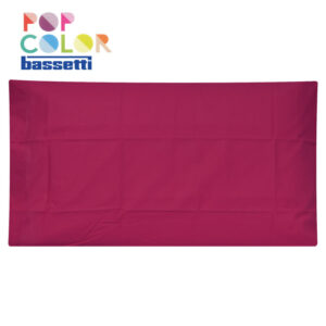 Federa per cuscino bassetti pop color ciclamino